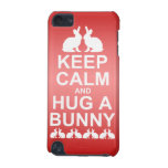 Keep Calm and Hug a Bunny iPod Touch Case(Pink)