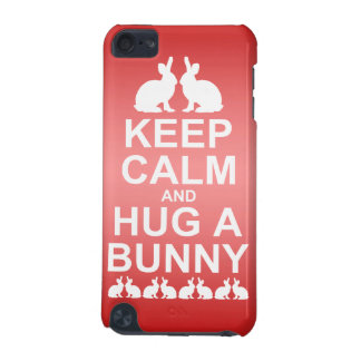 Keep Calm and Hug a Bunny iPod Touch Case(Pink) iPod Touch (5th Generation) Cover