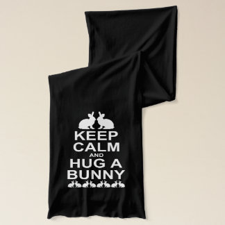Keep Calm and Hug a Bunny Scarf (for Dark Colours)