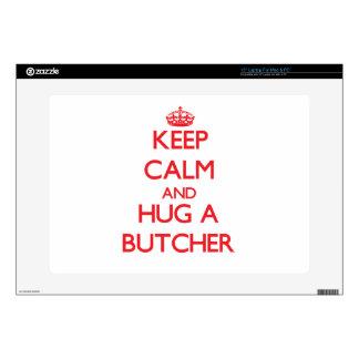 Keep Calm and Hug a Butcher Laptop Decals
