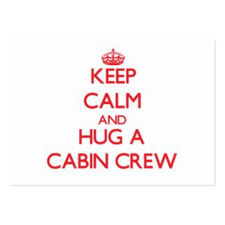 Keep Calm and Hug a Cabin Crew Business Card Templates