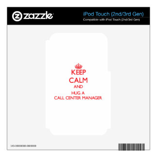 Keep Calm and Hug a Call Center Manager iPod Touch 3G Skins