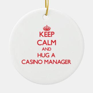 Keep Calm and Hug a Casino Manager Ornament
