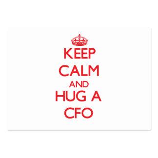 Keep Calm and Hug a Cfo Business Card Templates