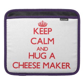 Keep Calm and Hug a Cheese Maker Sleeve For iPads