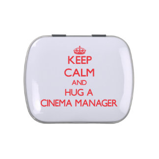 Keep Calm and Hug a Cinema Manager Jelly Belly Candy Tin