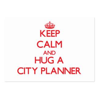 Keep Calm and Hug a City Planner Business Card Templates