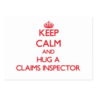 Keep Calm and Hug a Claims Inspector Business Cards