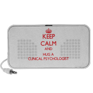 Keep Calm and Hug a Clinical Psychologist iPhone Speaker