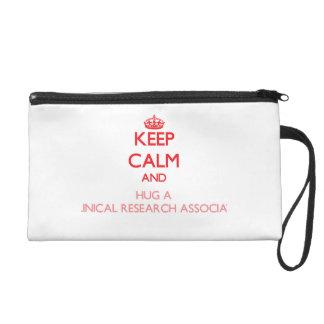 Keep Calm and Hug a Clinical Research Associate Wristlet Clutch