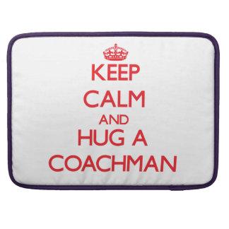 Keep Calm and Hug a Coachman Sleeve For MacBooks