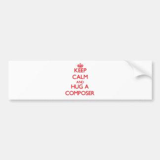 Keep Calm and Hug a Composer Bumper Sticker