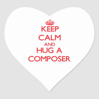 Keep Calm and Hug a Composer Heart Stickers
