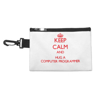 Keep Calm and Hug a Computer Programmer Accessories Bags