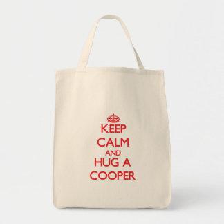 Keep Calm and Hug a Cooper Tote Bag