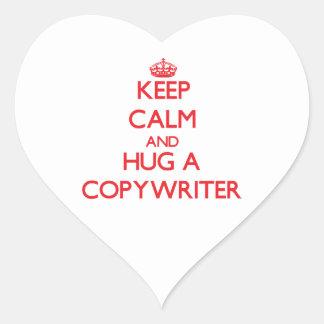 Keep Calm and Hug a Copywriter Sticker