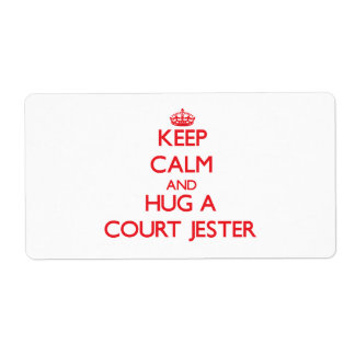 Keep Calm and Hug a Court Jester Personalized Shipping Labels