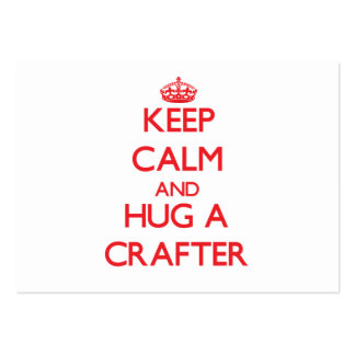 Keep Calm and Hug a Crafter Large Business Cards (Pack Of 100)