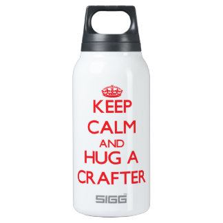 Keep Calm and Hug a Crafter 10 Oz Insulated SIGG Thermos Water Bottle