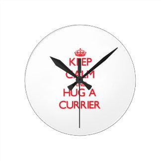 Keep Calm and Hug a Currier Clock