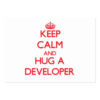 Keep Calm and Hug a Developer Large Business Cards (Pack Of 100)