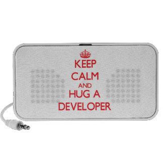 Keep Calm and Hug a Developer Mp3 Speakers