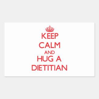 Keep Calm and Hug a Dietitian Sticker