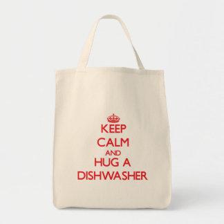 Keep Calm and Hug a Dishwasher Tote Bag