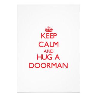 Keep Calm and Hug a Doorman Card