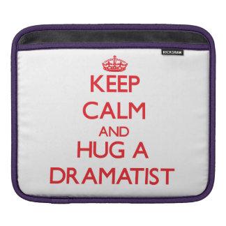 Keep Calm and Hug a Dramatist Sleeves For iPads