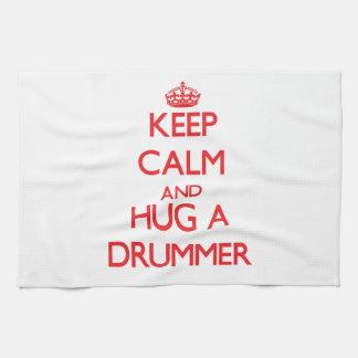 Keep Calm and Hug a Drummer Hand Towel