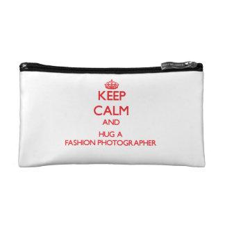 Keep Calm and Hug a Fashion Photographer Cosmetic Bag