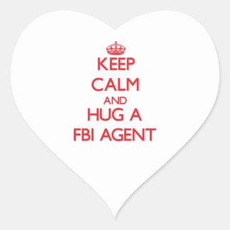 Keep Calm and Hug a Fbi Agent Sticker