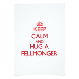 """Keep Calm and Hug a Fellmonger 5"""" X 7"""" Invitation Card"""
