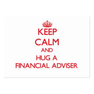 Keep Calm and Hug a Financial Adviser Business Card Templates