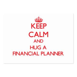 Keep Calm and Hug a Financial Planner Business Card Templates