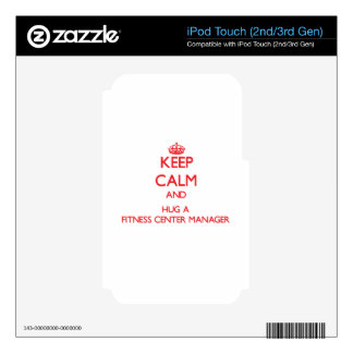 Keep Calm and Hug a Fitness Center Manager Decal For iPod Touch 3G