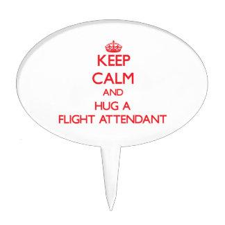 Keep Calm and Hug a Flight Attendant Cake Topper
