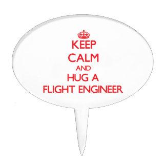 Keep Calm and Hug a Flight Engineer Cake Picks