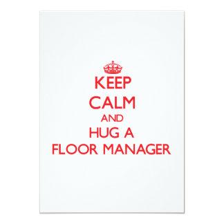Keep Calm and Hug a Floor Manager Custom Announcements