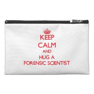 Keep Calm and Hug a Forensic Scientist Travel Accessories Bag