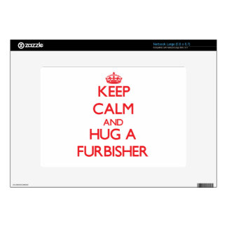 Keep Calm and Hug a Furbisher Large Netbook Decal