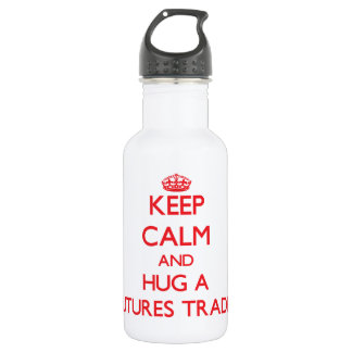 Keep Calm and Hug a Futures Trader 18oz Water Bottle