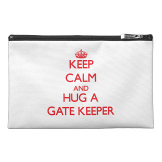 Keep Calm and Hug a Gate Keeper Travel Accessories Bags