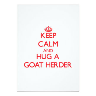 Keep Calm and Hug a Goat Herder Invite