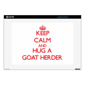 "Keep Calm and Hug a Goat Herder Decals For 15"" Laptops"