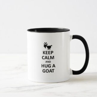 Keep calm and hug a Goat Mug