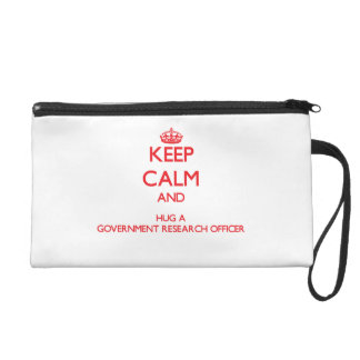 Keep Calm and Hug a Government Research Officer Wristlet Purse