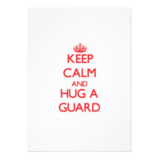 Keep Calm and Hug a Guard Personalized Announcement