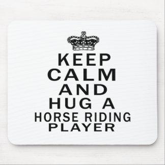 Keep Calm And Hug A Horse Riding Player Mousepad